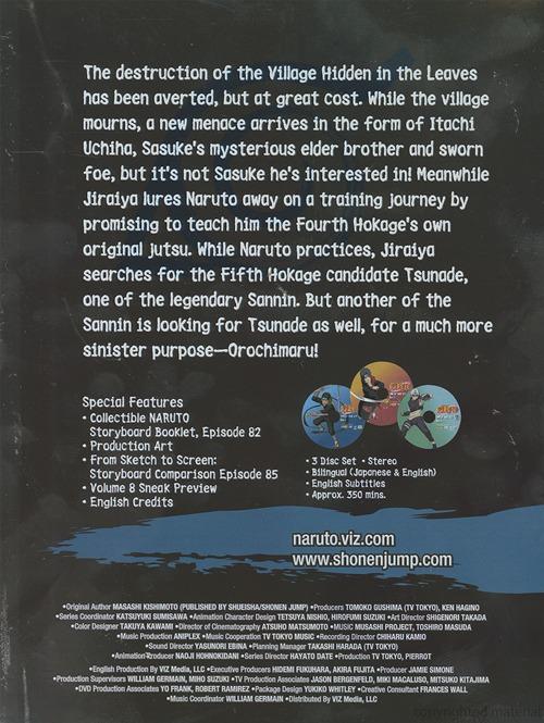 Naruto Uncut Box Set 7 (3Pc) / (Box)   BoomerangShop com - Thailand